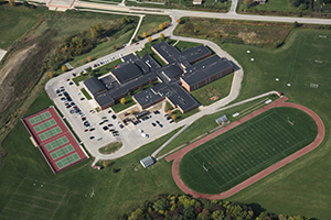 aerial view of excelsior middle school
