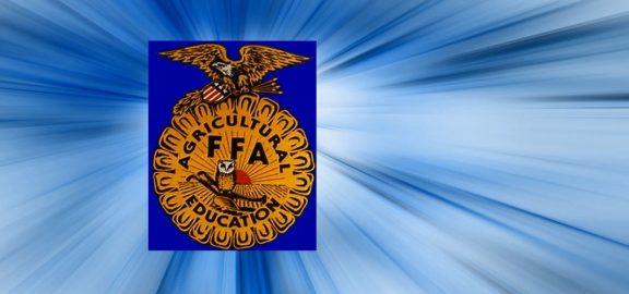 FFA logo on blue starburst background