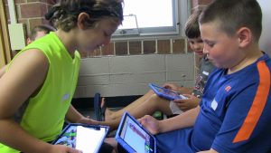 Students using ipads