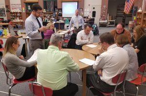 Board Members simulate a PLC meeting