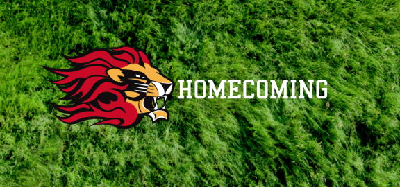 Lion Logo with the word Homecoming